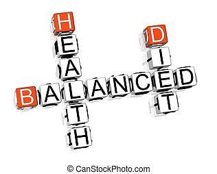 dieta equilibrata, cruciverba