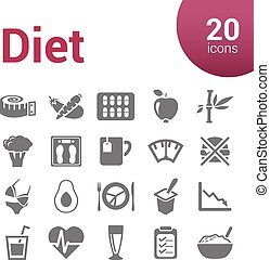 dieta, icone