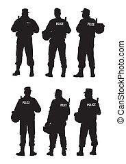 difesa, polizia, barriera