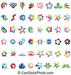 differente, 48, colorito, 3), vettore, icons:, (set