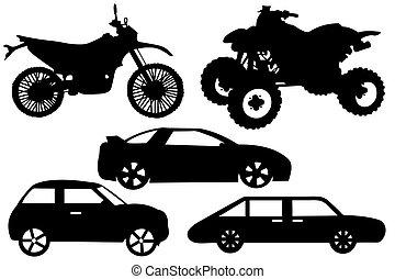 differente, automobili, collage