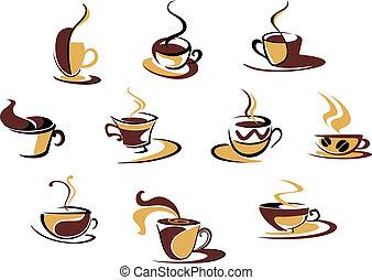differente, campanelle, caffè