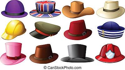 differente, cappello, progetta
