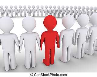 differente, forma, persone, grande, uno, cerchio