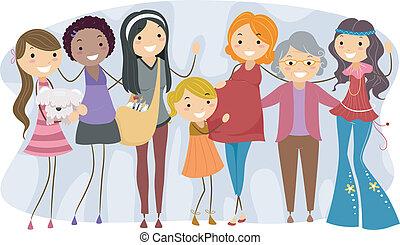 differente, generazioni, donne
