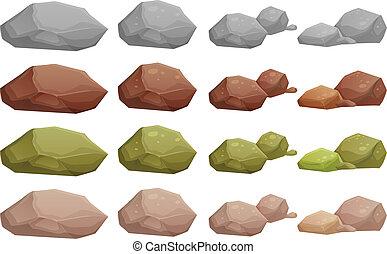 differente, pietre