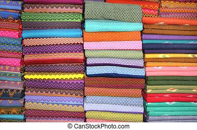 differente, tessuti, fatto mano, colori