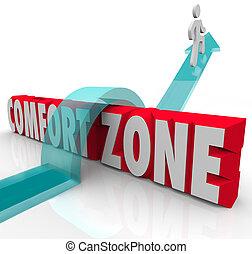differente, zona, sopra, conforto, esperienza, tentare, esterno, andare, crescere