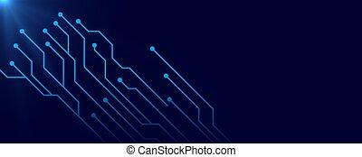 digitale, testo, circuito, spazio, fondo, blu