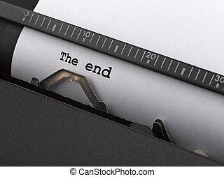 "digitare, end"", vendemmia, typewriter., ""the, messaggio"