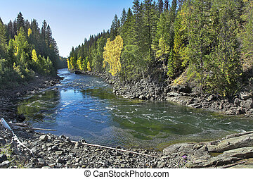 digiuno, montagna, river.