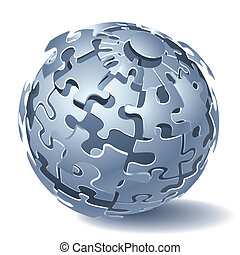 dinamico, puzzle, jigsaw, esplosione