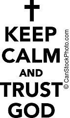 dio, fiducia, calma, custodire