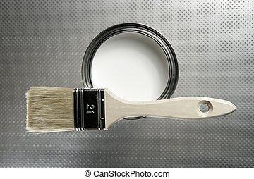 dipingere stagno, bianco, spazzola, pittore