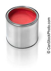 dipingere stagno, lattina, rosso
