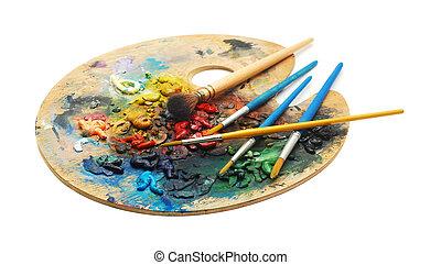 dipingere tavolozza