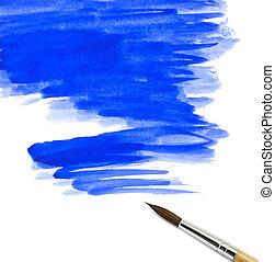 dipinto, acquarello, astratto, spazzola, fondo
