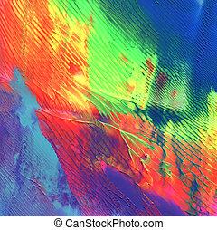 dipinto, astratto, acrilico, fondo