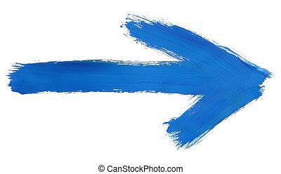 dipinto, freccia, mano
