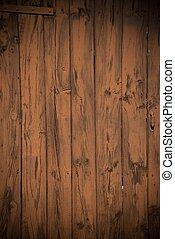 dipinto, legno, vecchio, porta