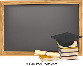 diploma, berretto, graduazione