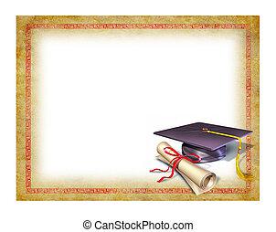 diploma, graduazione, vuoto