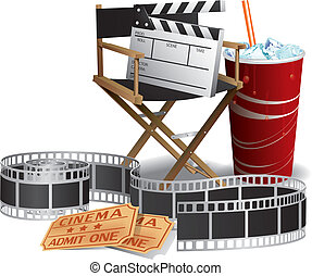 direttore, film, sedia