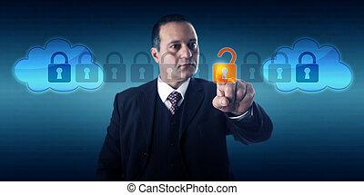 direttore, intercloud, dati, sbloccando, scambio