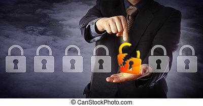 direttore, sicurezza, attacco, cyber, identificare