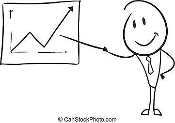 direttore, vendite, illustrazione