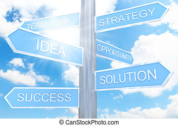 direzione, concetto, affari firmano