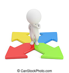 direzione, persone, -, scelta, piccolo, 3d