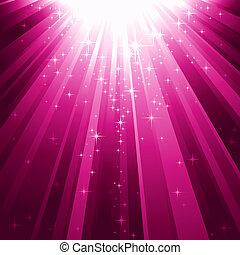 discendere, luce, magia, stelle, raggi