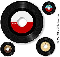 disco, 45 rpm, retro