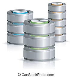 disco, database, duro, icona