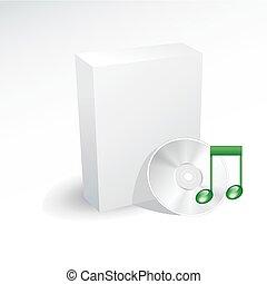 disco, scatola musica, vuoto, cd, dvd