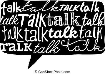 discorso, struttura, sopra, bolla, discorso, parola
