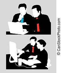 discussioni, vendite, affari