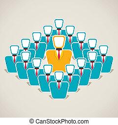 discutere, condottiero, squadra, suo, concetto
