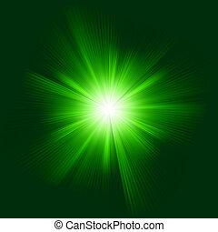disegni colore, eps, burst., verde, 8