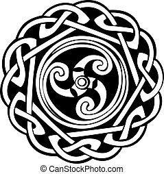 disegno astratto, celtico