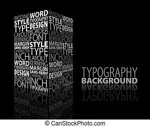 disegno astratto, tipografia, fondo