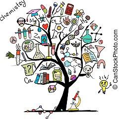 disegno, concetto, albero, tuo, chimica