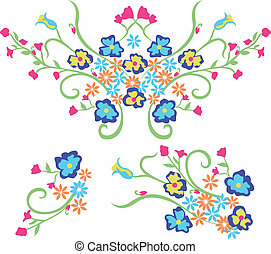disegno, fiore, ricamo