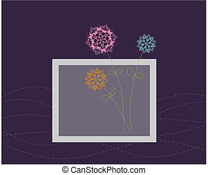 disegno floreale, cartolina auguri