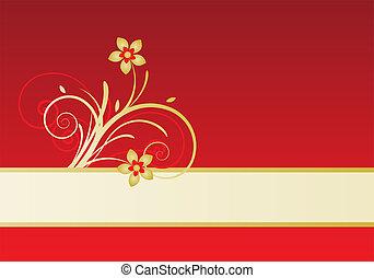 disegno floreale, scheda
