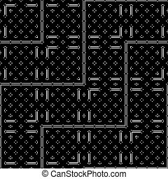 disegno geometrico, monocromatico, modello, seamless
