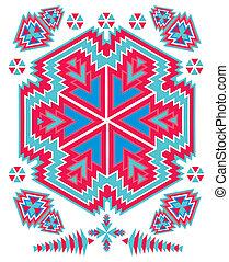 disegno, geometrico, vettore, arte, etnico