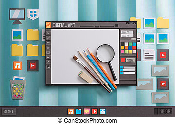disegno, grafico, software