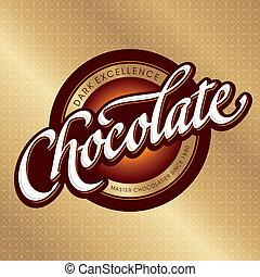 disegno, imballaggio, (vector), cioccolato